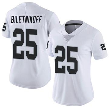 Women's Nike Las Vegas Raiders Fred Biletnikoff White Vapor Untouchable Jersey - Limited