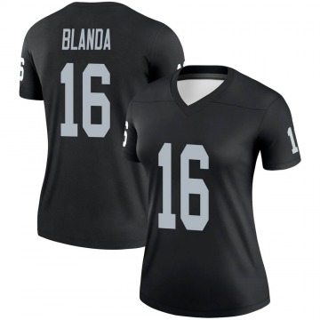 Women's Nike Las Vegas Raiders George Blanda Black Jersey - Legend