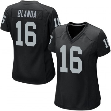 Women's Nike Las Vegas Raiders George Blanda Black Team Color Jersey - Game