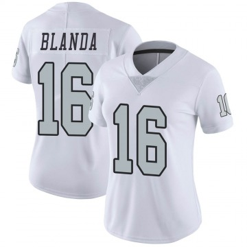 Women's Nike Las Vegas Raiders George Blanda White Color Rush Jersey - Limited