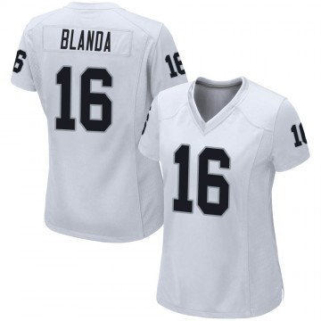 Women's Nike Las Vegas Raiders George Blanda White Jersey - Game