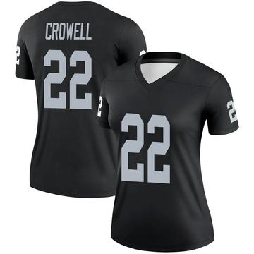 Women's Nike Las Vegas Raiders Isaiah Crowell Black Jersey - Legend