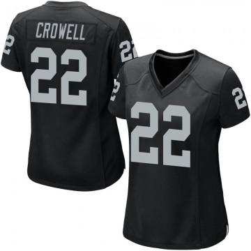 Women's Nike Las Vegas Raiders Isaiah Crowell Black Team Color Jersey - Game