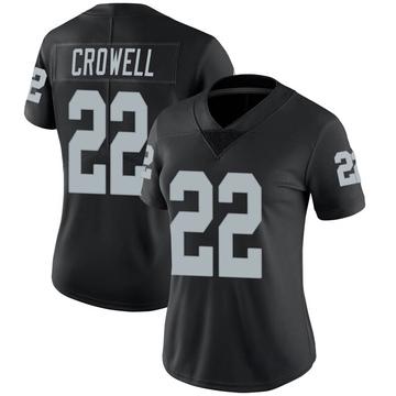 Women's Nike Las Vegas Raiders Isaiah Crowell Black Team Color Vapor Untouchable Jersey - Limited