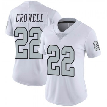 Women's Nike Las Vegas Raiders Isaiah Crowell White Color Rush Jersey - Limited