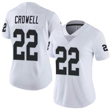 Women's Nike Las Vegas Raiders Isaiah Crowell White Vapor Untouchable Jersey - Limited