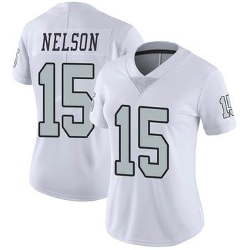 Women's Nike Las Vegas Raiders J.J. Nelson White Color Rush Jersey - Limited