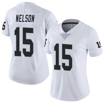 Women's Nike Las Vegas Raiders J.J. Nelson White Vapor Untouchable Jersey - Limited