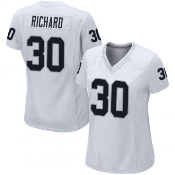 Women's Nike Las Vegas Raiders Jalen Richard White Jersey - Game