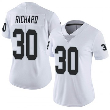 Women's Nike Las Vegas Raiders Jalen Richard White Vapor Untouchable Jersey - Limited