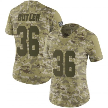 Women's Nike Las Vegas Raiders James Butler Camo 2018 Salute to Service Jersey - Limited
