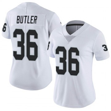 Women's Nike Las Vegas Raiders James Butler White Vapor Untouchable Jersey - Limited