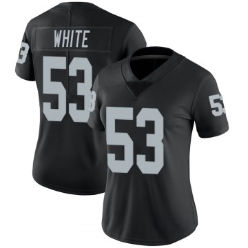Women's Nike Las Vegas Raiders Javin White White Black Team Color Vapor Untouchable Jersey - Limited