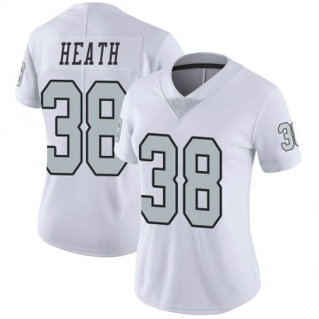 Women's Nike Las Vegas Raiders Jeff Heath White Color Rush Jersey - Limited