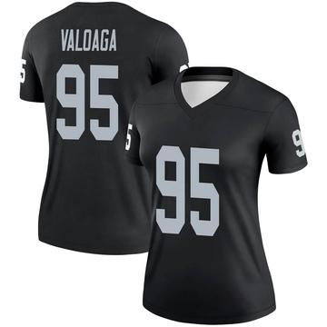 Women's Nike Las Vegas Raiders Jeremiah Valoaga Black Jersey - Legend