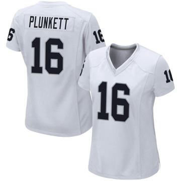 Women's Nike Las Vegas Raiders Jim Plunkett White Jersey - Game