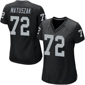 Women's Nike Las Vegas Raiders John Matuszak Black Team Color Jersey - Game