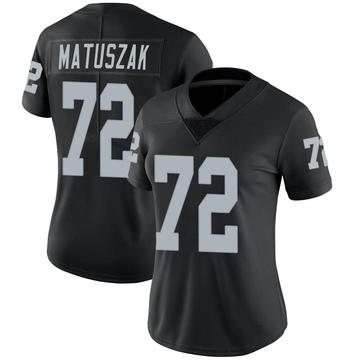 Women's Nike Las Vegas Raiders John Matuszak Black Team Color Vapor Untouchable Jersey - Limited
