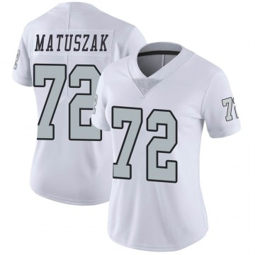 Women's Nike Las Vegas Raiders John Matuszak White Color Rush Jersey - Limited