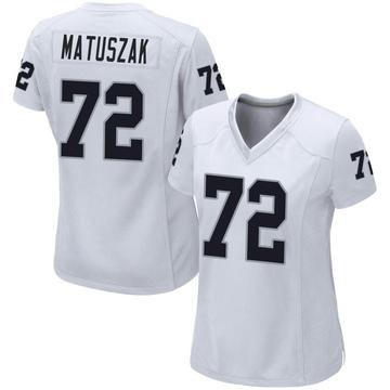 Women's Nike Las Vegas Raiders John Matuszak White Jersey - Game