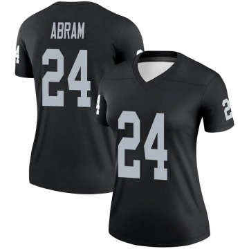 Women's Nike Las Vegas Raiders Johnathan Abram Black Jersey - Legend