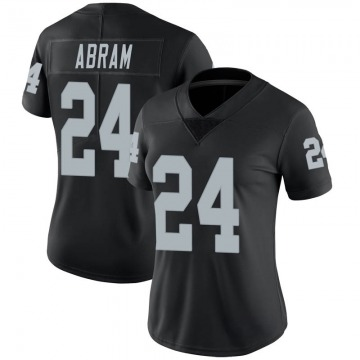 Women's Nike Las Vegas Raiders Johnathan Abram Black Team Color Vapor Untouchable Jersey - Limited