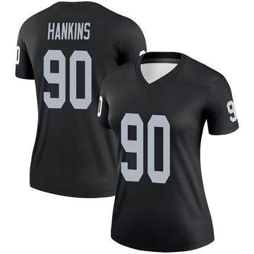 Women's Nike Las Vegas Raiders Johnathan Hankins Black Jersey - Legend
