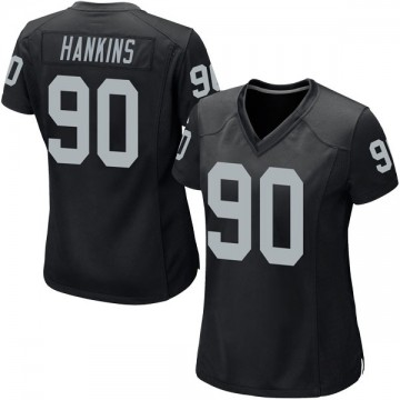 Women's Nike Las Vegas Raiders Johnathan Hankins Black Team Color Jersey - Game