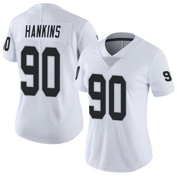 Women's Nike Las Vegas Raiders Johnathan Hankins White Vapor Untouchable Jersey - Limited