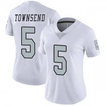 Women's Nike Las Vegas Raiders Johnny Townsend White Color Rush Jersey - Limited