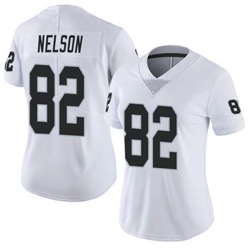 Women's Nike Las Vegas Raiders Jordy Nelson White Vapor Untouchable Jersey - Limited