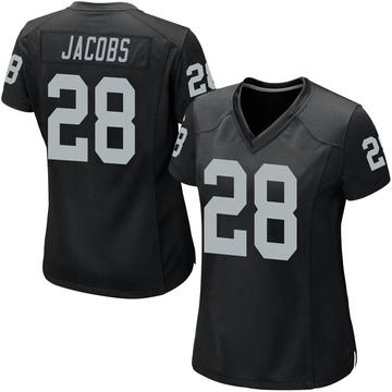 Women's Nike Las Vegas Raiders Josh Jacobs Black Team Color Jersey - Game