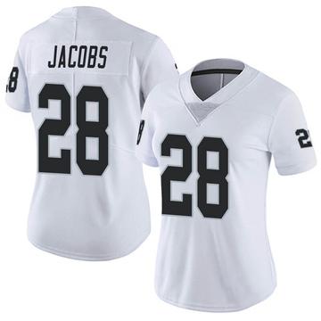 Women's Nike Las Vegas Raiders Josh Jacobs White Vapor Untouchable Jersey - Limited