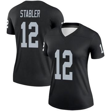 Women's Nike Las Vegas Raiders Ken Stabler Black Jersey - Legend