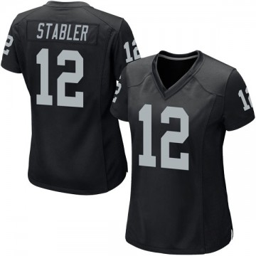 Women's Nike Las Vegas Raiders Ken Stabler Black Team Color Jersey - Game
