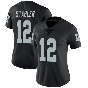 Women's Nike Las Vegas Raiders Ken Stabler Black Team Color Vapor Untouchable Jersey - Limited