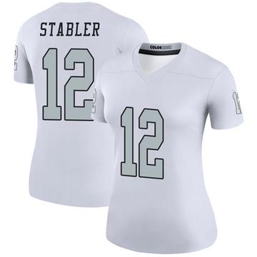Women's Nike Las Vegas Raiders Ken Stabler White Color Rush Jersey - Legend