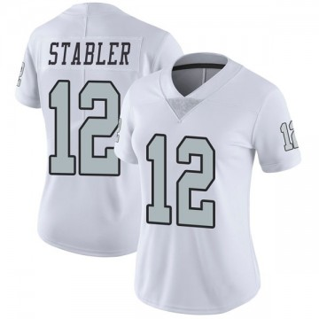 Women's Nike Las Vegas Raiders Ken Stabler White Color Rush Jersey - Limited