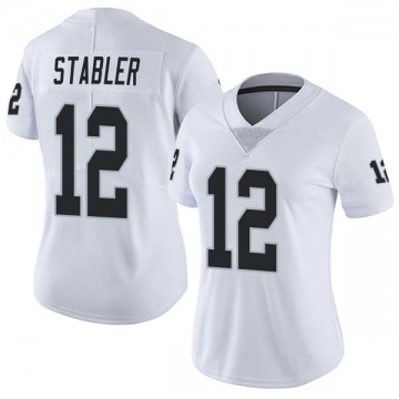 Women's Nike Las Vegas Raiders Ken Stabler White Vapor Untouchable Jersey - Limited