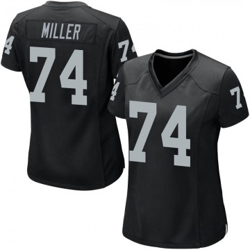 Women's Nike Las Vegas Raiders Kolton Miller Black Team Color Jersey - Game