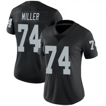 Women's Nike Las Vegas Raiders Kolton Miller Black Team Color Vapor Untouchable Jersey - Limited