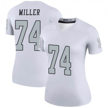 Women's Nike Las Vegas Raiders Kolton Miller White Color Rush Jersey - Legend