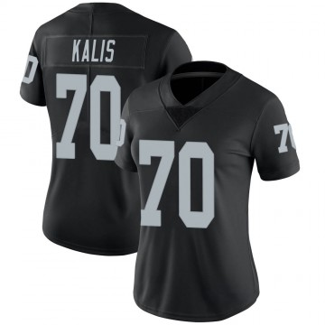 Women's Nike Las Vegas Raiders Kyle Kalis Black Team Color Vapor Untouchable Jersey - Limited