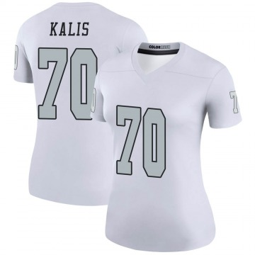 Women's Nike Las Vegas Raiders Kyle Kalis White Color Rush Jersey - Legend
