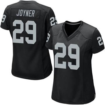 Women's Nike Las Vegas Raiders Lamarcus Joyner Black Team Color Jersey - Game