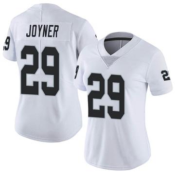 Women's Nike Las Vegas Raiders Lamarcus Joyner White Vapor Untouchable Jersey - Limited