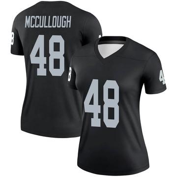 Women's Nike Las Vegas Raiders Liam McCullough Black Jersey - Legend