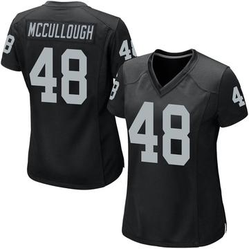 Women's Nike Las Vegas Raiders Liam McCullough Black Team Color Jersey - Game