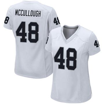 Women's Nike Las Vegas Raiders Liam McCullough White Jersey - Game