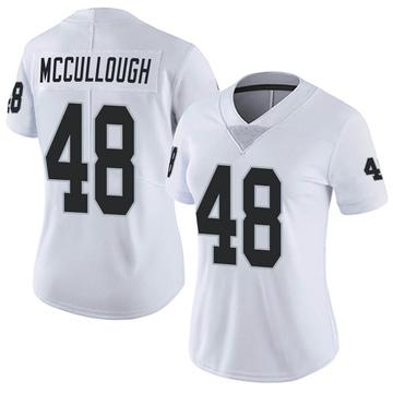Women's Nike Las Vegas Raiders Liam McCullough White Vapor Untouchable Jersey - Limited